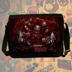 NEW Custom : Slipknot Heavy Metal Messenger School Laptop Bag By Gift Ideas #06
