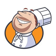 A character illustration that's going to be used by Chef Scott as his logo and on the labels of his prepackaged foods. Kawaii Illustration, Character Illustration, Brand Character, Character Design, Döner Restaurant, Logo Chef, Label Design, Logo Design, Doodle Characters
