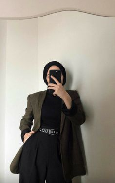 Modest Fashion Hijab, Casual Hijab Outfit, Muslim Fashion, Modest Outfits, Fashion Outfits, Hijab Fashion Inspiration, Girl Hijab, Mode Hijab, Minimal Fashion