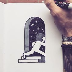 Finding a way out. #muretzSketch by muretz
