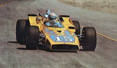 Joe Leonard 1971 Phoenix spring race before American Tourister emerged as a sponsor on the VPJ Colt