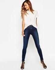 ASOS | ASOS Ridley Skinny Ankle Grazer Jean In Cotton Wood Wash at ASOS