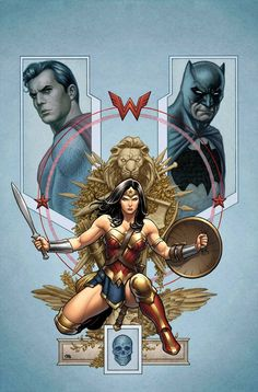 Trinity #2 variant cover - Wonder Woman, Superman and Batman by Frank Cho, colours by Laura Martin *                                                                                                                                                                                 More