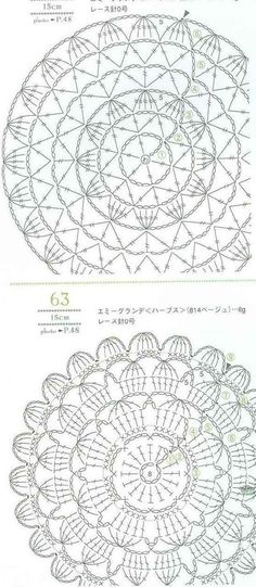 best Ideas for crochet shawl pattern circle Crochet Mandala Pattern, Crochet Motifs, Crochet Diagram, Crochet Stitches Patterns, Crochet Chart, Crochet Squares, Thread Crochet, Crochet Dollies, Crochet Flowers