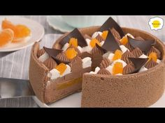 Chocolate Orange Cake 巧克力橙子蛋糕 Gâteau au chocolat et à l'orange ASMR - YouTube Asmr, Chocolate Orange, Cake, Fancy Desserts, Cheese, Baking, Models, Orange, Sweet Recipes