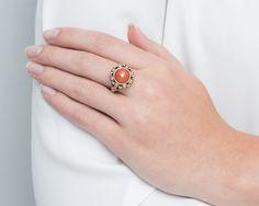 Pierścionek z koralem 00115 Sklep Złoto-Orla Warszawa Rings, Jewelry, Jewlery, Jewerly, Ring, Schmuck, Jewelry Rings, Jewels, Jewelery