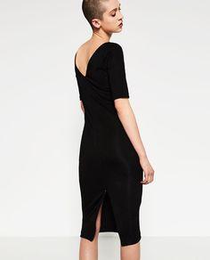 Image 5 of V-BACK SHEATH DRESS from Zara