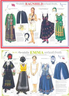 Paper doll Ragnhild no.8 and Emma no.14 by minnasusanne, via Flickr