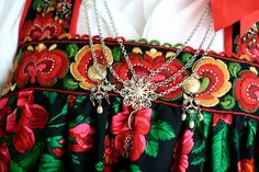 FolkCostume&Embroidery: Bunad and Rosemaling embroidery of upper Hallingdal, Buskerud, Norway Folk Costume, Costumes, Historical Clothing, Folklore, Norway, Shoulder Bag, Embroidery, World, Traditional
