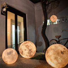 """Inspired by the moon, Taiwanese design firm Acorn Studio created Luna, the Moon Lamp that """"turns your home into a magical world""""."""