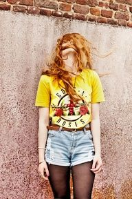 I'm not a big fan of Guns N Roses, but I still LOVE this outfit. Besides, I could use a different band T-shirt:)