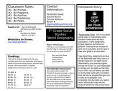 class syllabus template