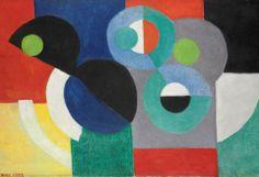 Sonia Delaunay , ソニアドローネー (1885年11月14日- 1979年12月5日)であったユダヤ人 - フランス語夫と、アーティストロバート·ドローネーなど、共同設立Orphismの 芸術運動は 、強い色や幾何学的な形状のその使用。 彼女の作品は、絵画、テキスタイルデザインや舞台セットのデザインにまで及ぶ。