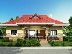 Edwardo - One Story Dream House Plan Cheap House Plans, Affordable House Plans, My House Plans, 3 Bedroom Bungalow, Modern Bungalow House, Modern House Facades, Filipino House, Philippines House Design, Bungalow Floor Plans