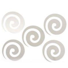 Stickers Miroir - 15 x 15 cm - Spirale ATMOSPHERA