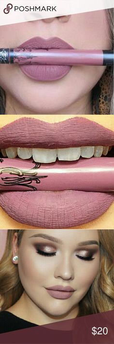 Kat Von D Everlasting Liquid Lipstick New. Authentic (shown in pictures). Only swatched. Shade in REQUIEM. Described as a rich lavender color or a mauve with purple undertones. Everything in my closet is at its lowest price, but if you bundle with other items I will give a discount NO TRADES #happyposhing Kat Von D Makeup Lipstick