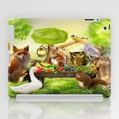 Sommerfest der Tiere iPad Case