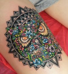 Owl Mandala tattoo