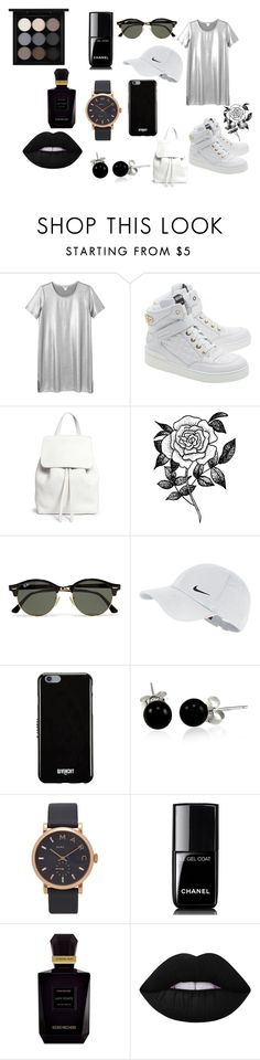 """White"" by mirela-r13 on Polyvore featuring Monki, Moschino, Mansur Gavriel, Forever 21, Ray-Ban, NIKE, Givenchy, Bling Jewelry, Marc Jacobs and Chanel"