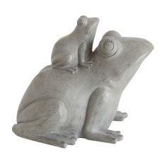 Creative Co-Op Secret Garden Resin Stacked Frog Figurine