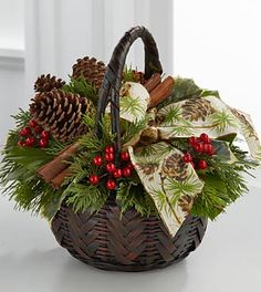 Ftd flower arrangements for christmas Christmas Planters, Christmas Baskets, Christmas Table Decorations, Rustic Christmas, Christmas Projects, Christmas Candles, Scandinavian Christmas, Christmas Berries, Christmas Flowers