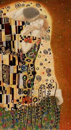 Golden Klimt- VI - The Lovers