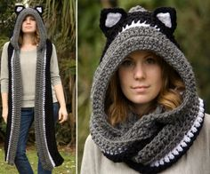 Crochet Scoodie with Ears
