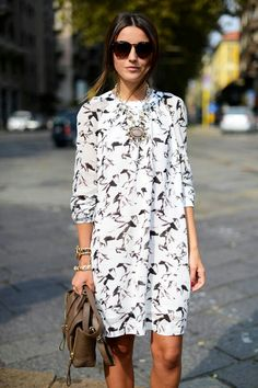 statement necklace with dress