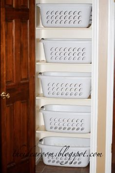 "Acquire terrific tips on ""laundry room storage diy small"". They are accessible for you on our web site. Decoration Inspiration, Decoration Design, Organizar Closets, Laundry Closet, Bathroom Closet, Laundry Rooms, Hallway Closet, Utility Closet, Closet Bedroom"