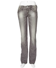 Rock Revival Celine Straight Stretch Jean- grey
