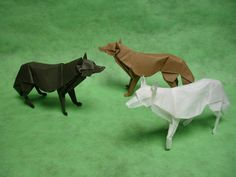 Origami Wolves by origami-artist-galen.deviantart.com on @deviantART