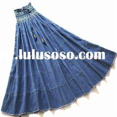 Google Image Result for http://www.lulusoso.com/upload/20120328/long_blue_jean_skirts.jpg