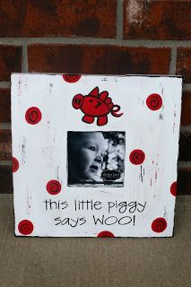 would be cute for a Razorback nursery!