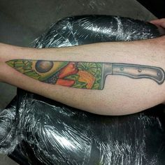 a taco #tattoo! this person might be even more into #tacos than we ... - Tattoos Für Köche