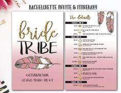Bride Tribe, Boho, Bachelorette Itinerary, Bachelorette Invite, Tribal Bachelorette, Drunk In Love, Bride Squad, Nashville bach, Feyonce by AWickedWhim on Etsy