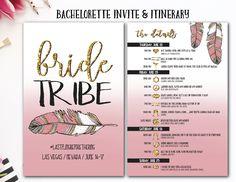 Bride Tribe, Boho, Bachelorette Itinerary, Bachelorette Invite, Tribal Bachelorette, Drunk In Love, Bride Squad, Nashville bach, Feyonce by AWickedWhim on Etsy