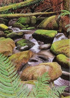 Greeting cards by Alison Holt Textile Artist Machine Embroidery Quilts, Freehand Machine Embroidery, Free Motion Embroidery, Embroidery Art, Thread Art, Thread Painting, Landscape Art Quilts, Rug Hooking Patterns, Creative Embroidery
