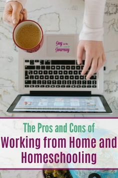 Working at home is not always pretty. Here are a few pros and cons of working from home straight from a wahm of 11 years! Homeschool Curriculum, Homeschooling Resources, Parenting Advice, Mom Advice, Scripture Memorization, Learning To Say No, Time Management Tips, Work From Home Moms, Christian Women