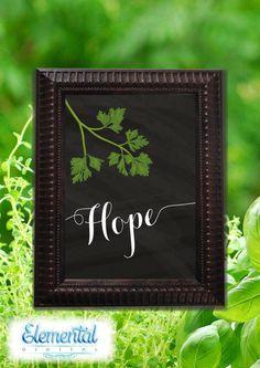 INSTANT DOWNLOAD Printable  Hope with Herb by ElementalDigital