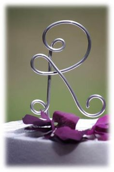 Initial Cake Topper for Wedding Anniversary by crosswiredesign, $15.00