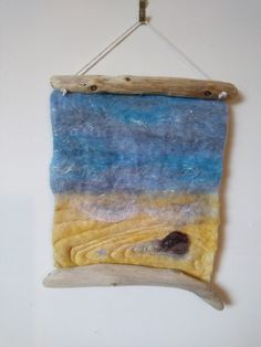 Rockpool wet felted wall hanging by Cathie Palmer - Felt Isle