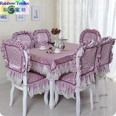 Ideas Sewing Table Cover Tutorials For 2019 Furniture Covers, Chair Covers, Table Covers, Kitchen Table Chairs, Table And Chairs, Sewing Table, Decoration Table, Upcycled Furniture, Soft Furnishings