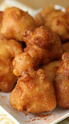 Beer Battered Corn Fritters Recipes for beer Finger Food Appetizers, Best Appetizers, Finger Foods, Appetizer Recipes, Side Recipes, Vegetable Recipes, Great Recipes, Favorite Recipes, Vegetable Dishes