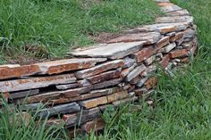 Dry Stacked Stone wall class with David Hauslohner at Mathews Living History Farm Museum.
