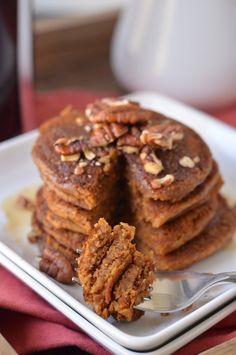 Healthy Vegan Pumpkin Spice Pancakes by @Erica {Coffee & Quinoa}