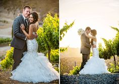 San Diego Style Weddings: Wedding Wednesday: Krystal and Clint. Ingredients: Gershon Bachus Vintners, Hulse Photography, Sweet Pea Floral Creations