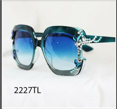 9c4fb180e071 William Wang Women s Designer Sunglasses With Hand Set Swarovski Crystal  Jewels