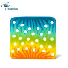 Polka dots square cane