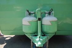 1956 Shasta Trailer - Lightening Bolt Paint Scheme on Propane Tanks