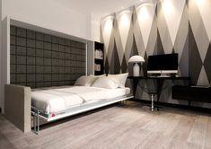 ClickBed O Sofa to poziome łóżko chowane w szafie z automatycznie otwieraną sofą podczas otwierania łóżka. Bed, Furniture, Home Decor, Decoration Home, Stream Bed, Room Decor, Home Furnishings, Beds, Home Interior Design